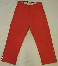 Eddie Bauer BLIZZARD PROOF Snow Ski Pants Goose Down Size 36 Insulated RED VTG