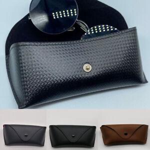 Protable Leather Sunglasses Box Eye Reading Glasses Storage Case Protective