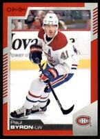 2020-21 UD O-Pee-Chee Red Border #449 Paul Byron - Montreal Canadiens