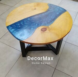 Epoxy Round Coffee Table/River Coffee Table