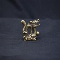 Chinese Pure brass Dragon small statue pendant NO 99