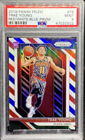 Trae Young 2018-19 Panini Prizm Red White & Blue Rookie RC Mint PSA 9