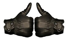Mens Black Driving Leather Gloves Touch Screen Soft Fleece Lined Thermal Winter