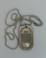 Serenity Prayer-Dog Tag Style Necklace with a Bronze Alloy Pendant