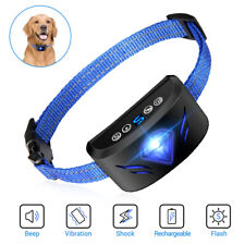 2020 Newest Rechargeable Anti Bark Collar Beep Shock Adjustable for 15-150LB Dog