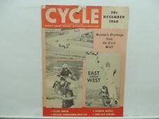 December 1960 CYCLE Magazine Triumph BMW NSU Motorcycle L9571