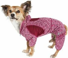 New! Pet Life Full Body Warm Up Active Dog Hoodie in Burgundy Size: Medium