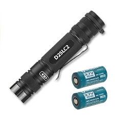 Eagletac D25LC2 Clicky 850 Lumen XM-L2 Flashlight -Includes 2x RCR123A Batteries
