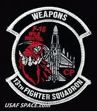 USAF 13TH FIGHTER SQUADRON - WEAPONS -Misawa AB, Japan- ORIGINAL VEL PATCH