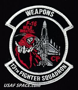 USAF 13TH FIGHTER SQUADRON -F-16 - WEAPONS -Misawa AB, Japan- ORIGINAL VEL PATCH