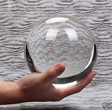 80mm Asian Rare Quartz Clear Magic Crystal Healing Ball Sphere &&