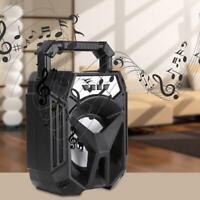 Haut-parleur portatif sans fil Bluetooth de haut-parleur FM de lumière de