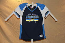 San Diego Chargers  DRAFT ME Fashion JERSEY/Shirt MAJESTIC Womens Small  NWT $55