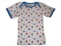 NEU Ergee tolles Unterhemd Gr. 98 / 104 blau-grün-weiß-rot mit Hundemotiven !!