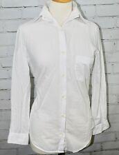 ROBERT FRIEDMAN White Blouse Button-Down Shirt - 100% Cotton Women's Small
