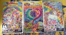 Lisa Frank * Lot Of 3 * Sticker Collectors Set * Dolphin, Unicorn, & Puppy *