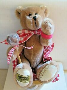 MERRYTHOUGHT TEDDY BEAR ~ TOFFEE APPLE ~ With Basket ~ No 260 ~ Signed On Paw