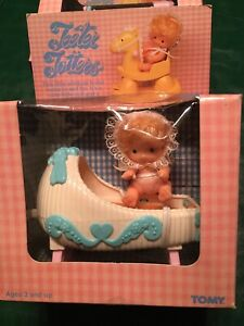 Easter Basket Special 1981 TOMY Teeter Totters Wind-up Toy Baby Doll in Tub
