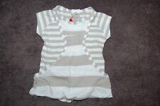 Boboli Dress and Pants Set Fawn Striped 100% Cotton Age 1 Month BNWT