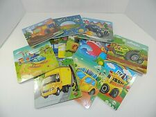 12 Individual Kids Puzzle Cars and Transportation, new wrapped
