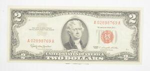 1963 $2 United States Note | UNC | Legal Tender | Red Seal Crisp & Original *312