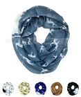 Deer Wild Animal Print Block Circle Loop Wrap Infinity Scarf Horn Casual Fashion