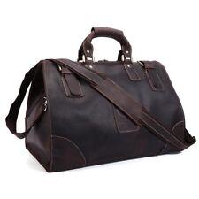 Vintage Men's Real Leather Travel Luggage Camping Carry On Handbag Shoulder Bag