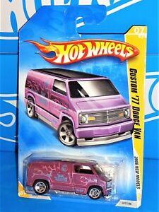 Hot Wheels 2008 New Models #7 Custom '77 Dodge Van Magenta w/ OH5SPs