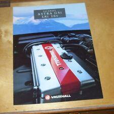 VAUXHALL ASTRA GSi 1.8i 16v SALES BROCHURE May 1993 Ref  V10289