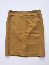 J. Crew Camel Tan Wool Blend The Pencil Skirt 4 Lined Excellent