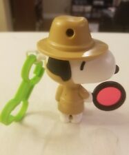 McDonald's Peanuts Snoopy DETECTIVE Bag Clip Toy  FREE SHIPPING
