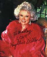 Phyllis Diller Hand Signed Jsa Coa  6x7 Photo Authenticated Autograph
