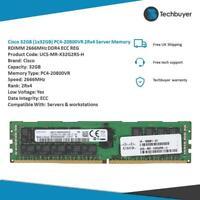 CISCO 32GB (1*32GB) 2RX4 PC4-21300V-R DDR4-2666MHz - UCS-MR-X32G2RS-H