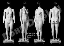 Female Plus Size Invisible Ghost Mannequin Manikin Display Dress Form # 00006000 Mz-Gh24