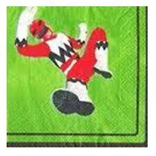 POWER RANGERS Red Ranger SMALL NAPKINS (16) ~ Birthday Party Supplies Beverage