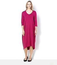 Join Clothes Bubble Hem Insert Pockets 3/4 Sleeve Dress Sangria Size Large BNWT
