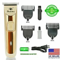 Rechargeable Electric Men Hair Clipper Shaver Trimmer Razor haircut Grooming Kit