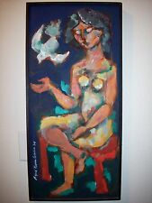 JIBARITA By Rafael Rivera Garcia - Signed Original Oil Painting - Latin 1964