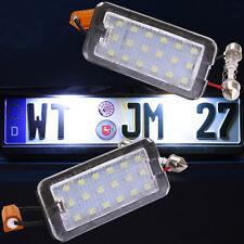 Fiat 500 500C sehr helle LED SMD Kennzeichen Beleuchtung Nummernschild [72403]