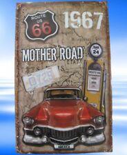 Wandschild Eisen Gestanzt Eisen Mother Road H.40x25 Vintage Wand Deko Geschenk