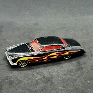 Hot Wheels 3P Fish'd & Chip'd Black Red & Yellow Flames Die-Cast Vehicle 2012