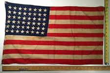 American 48 Star Wool U. S Parade Flag Nice Display Size 27 X 16 Non Fluorescing