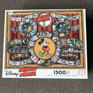 Ceaco Disney Mickey Mouse Vintage Film Collage 1500 Pc Jigsaw Puzzle NEW Sealed