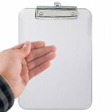4''x 6'' Crystal Clear Acrylic Clipboard for 4 X 6 inch Paper at Work or School