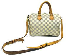 Authentic Louis Vuitton Damier Azur Bandouliere Speedy 25 2013 Satchel