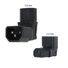 IEC 60320 C14 to Up Angle IEC 60320 C13 Plug Adapter, 10A, 250V