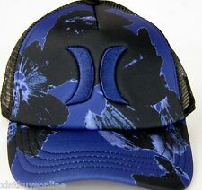 Hurley Half Mesh The One & Only Trucker Hat Cap Nav Floral Hurley Surfing Beach