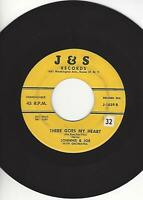 """JOHNNIE & JOE- """"THERE GOES MY HEART""""- J & S 1659- ORIGINAL PRESS- EXC. CONDITION"""