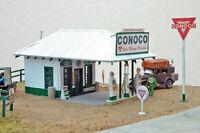JLI 651 HO SCALE CONOCO GAS STATION WOOD BUILDING KIT W/METAL DETAILS FREE SHIP