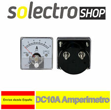 DC 10A Amperimetro Analógico Panel Medidor Amperaje 0 a 10A Shunt built-in H0043